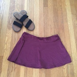 Lands end size 10 maroon swim coverup